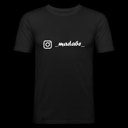 madabe instagram weiss - Männer Slim Fit T-Shirt