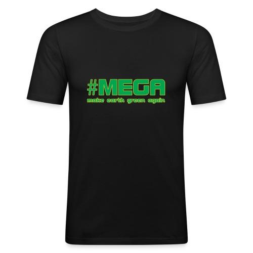 #MEGA - Männer Slim Fit T-Shirt