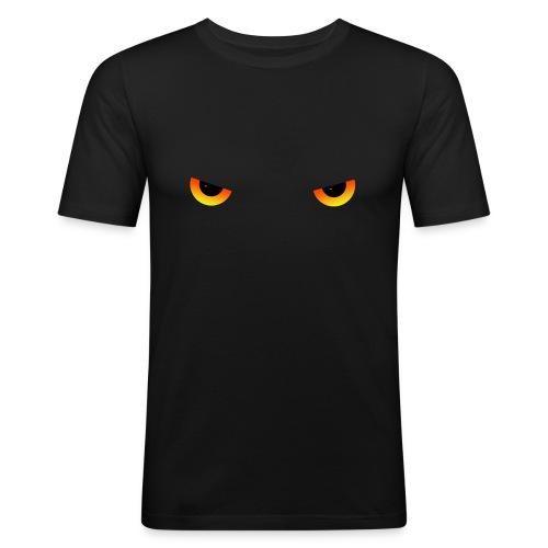 Augen feurig - Männer Slim Fit T-Shirt