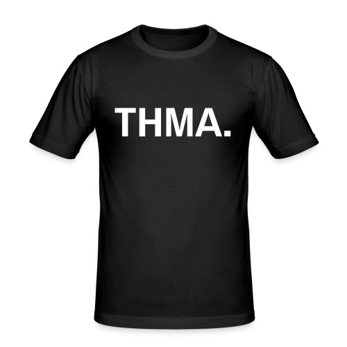 thma spreadshirt - Mannen slim fit T-shirt