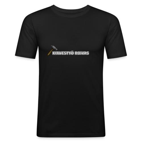 Kirvestyö Roivas työpaita - Miesten tyköistuva t-paita