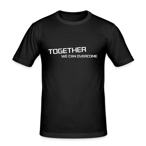 shirtsbydep Togetherwecanovercome man - Mannen slim fit T-shirt