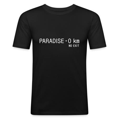 paradise0km - Männer Slim Fit T-Shirt