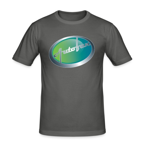 Autofan groen - Mannen slim fit T-shirt