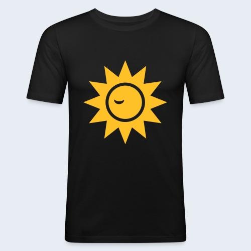 Winky Sun - Mannen slim fit T-shirt