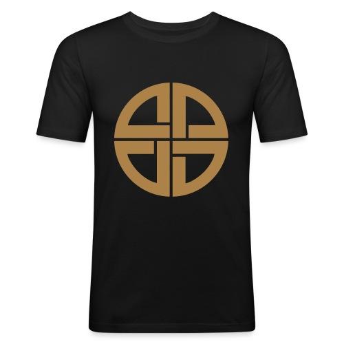 Thor Schildknoten, Schutzsymbol, Keltischer Knoten - Männer Slim Fit T-Shirt