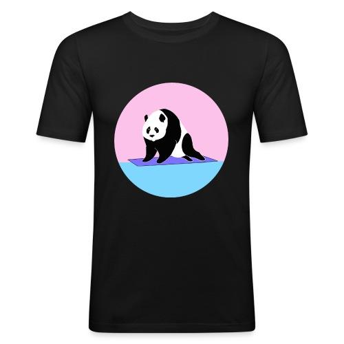 Yoga panda downward dog namaste - Men's Slim Fit T-Shirt