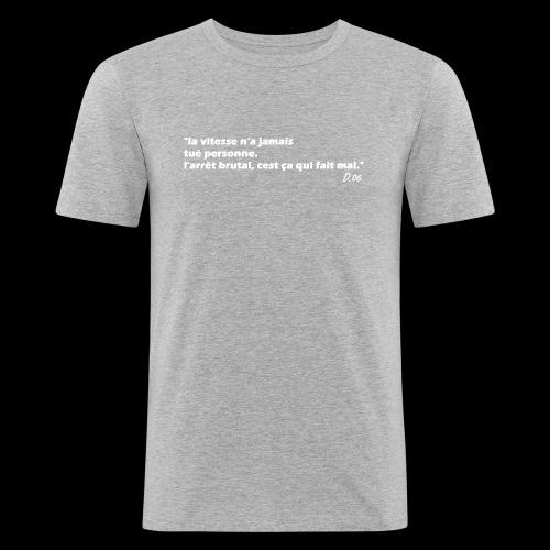 vitesse (blanc) - T-shirt près du corps Homme