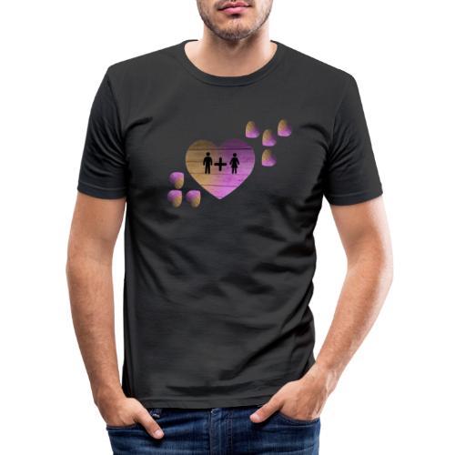 couple amoureux - T-shirt près du corps Homme