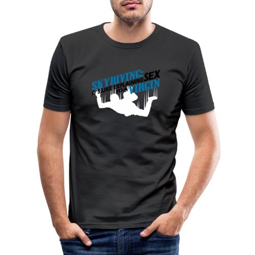 skydiving - Mannen slim fit T-shirt
