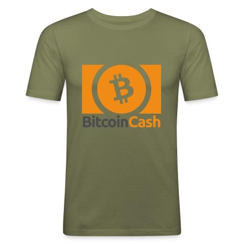 Bitcoin Cash - Miesten tyköistuva t-paita