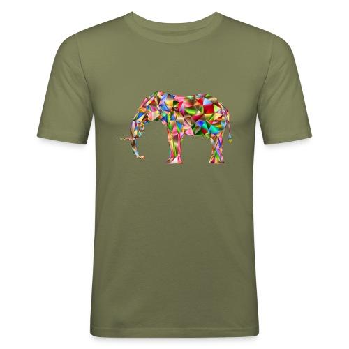 Gestandener Elefant - Männer Slim Fit T-Shirt