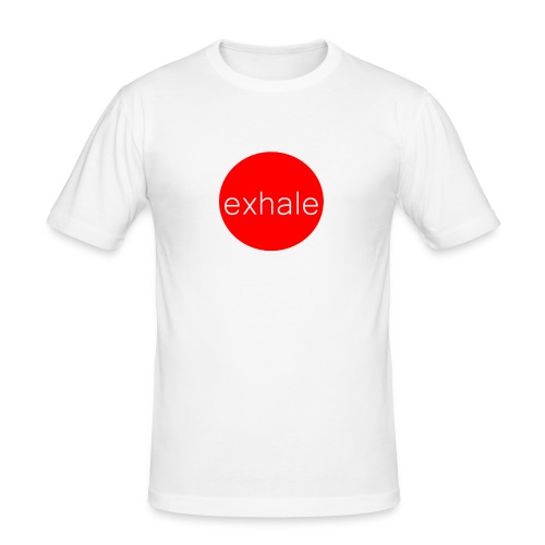 exhale - Men's Slim Fit T-Shirt