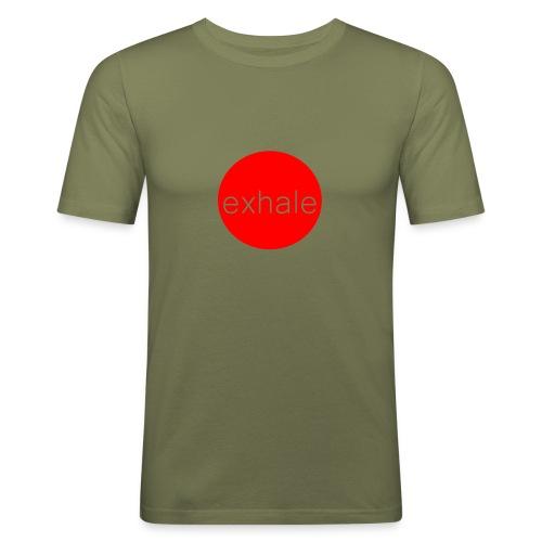 exhale - Men's Slim Fit T-Shirt