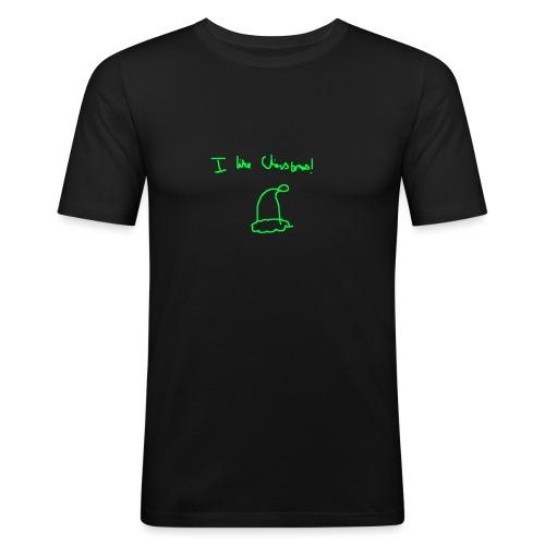 I like Christmas - Men's Slim Fit T-Shirt