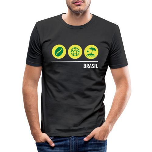 Circles - Brazil - Men's Slim Fit T-Shirt