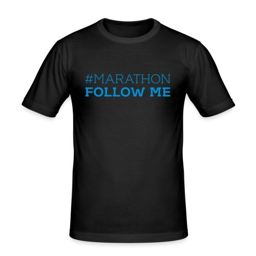 Marathon Follow me Tweet - Männer Slim Fit T-Shirt
