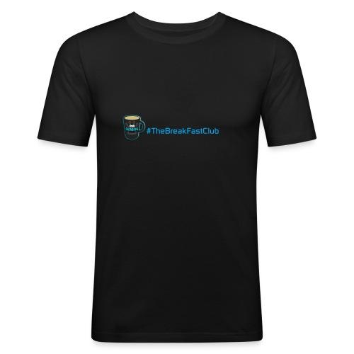 mug plus text - Men's Slim Fit T-Shirt