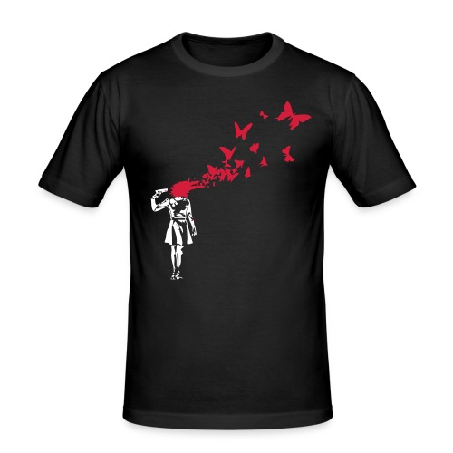 Butterfly Suicide - Männer Slim Fit T-Shirt