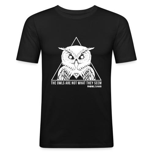 THE OWLS ARE NOT WHAT THEY SEEM - RADIOLEVANO - Maglietta aderente da uomo
