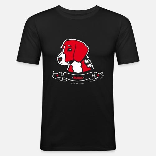Beagle - Maglietta aderente da uomo