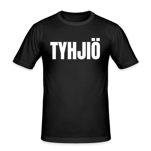 TYHJIÖ Logo White - Men's Slim Fit T-Shirt