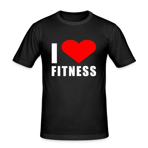 I LOVE FITNESS - Männer Slim Fit T-Shirt
