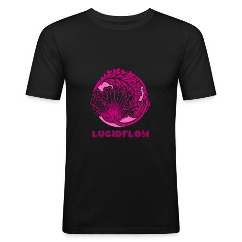 Lucidflow Pink Transparent - Men's Slim Fit T-Shirt