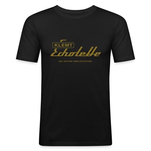 klemt echolette with strapline - Men's Slim Fit T-Shirt