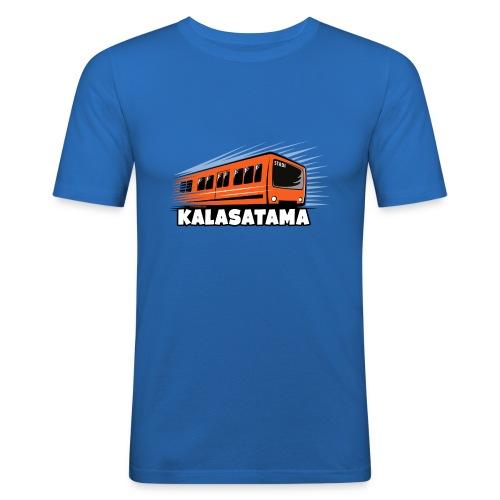 11- METRO KALASATAMA - HELSINKI - LAHJATUOTTEET - Miesten tyköistuva t-paita
