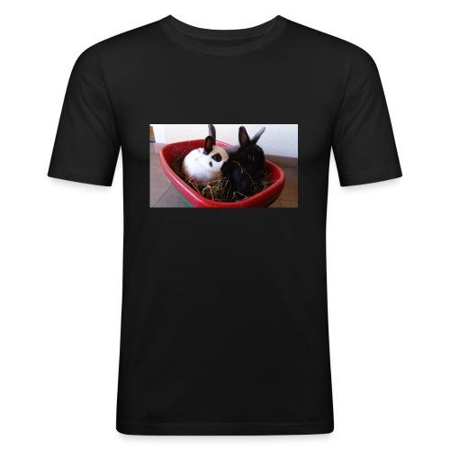 Warme Sachen mit dem Hasenlogo - Männer Slim Fit T-Shirt