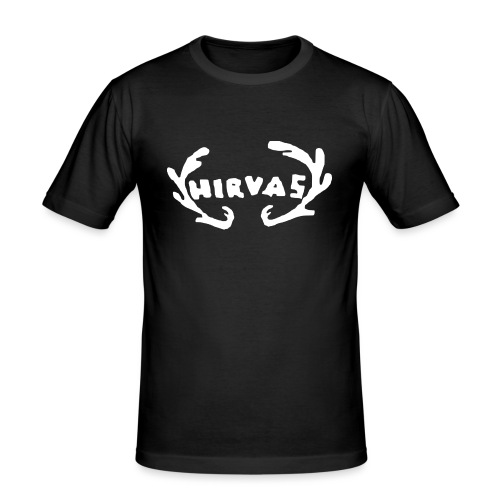 Hirvas vaalea - Miesten tyköistuva t-paita