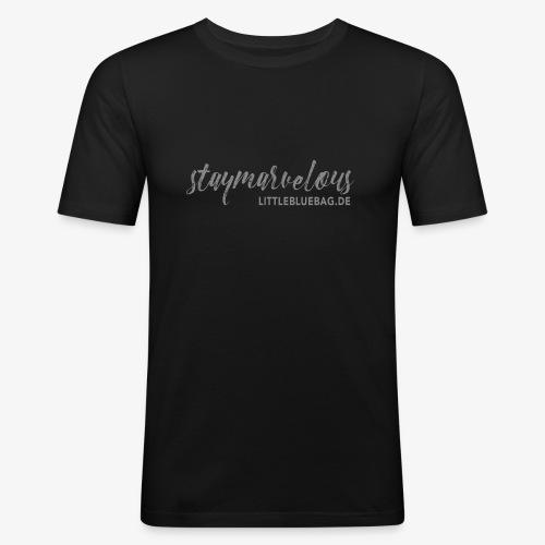 4 staymarvelous hellgrau - Männer Slim Fit T-Shirt