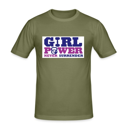 GIRL POWER NEVER surrender 01 - Camiseta ajustada hombre