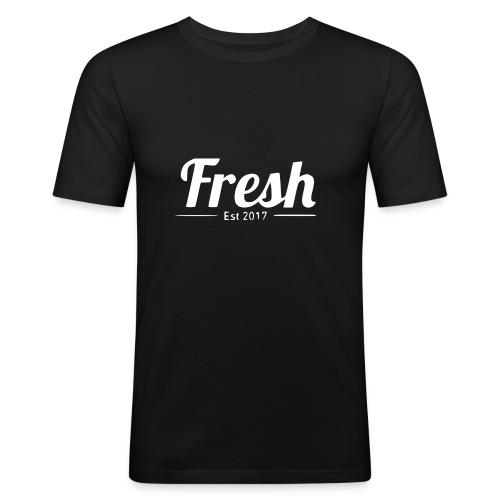 white logo - Men's Slim Fit T-Shirt