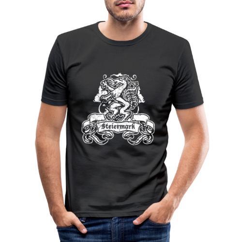 Steirischer Panther Banner Geschenk Steiermark - Männer Slim Fit T-Shirt