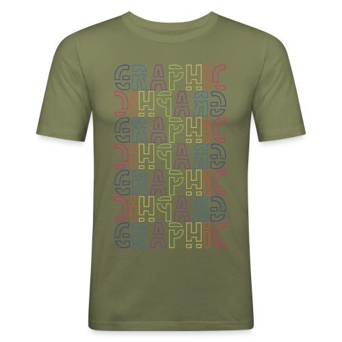 graficzny - Obcisła koszulka męska