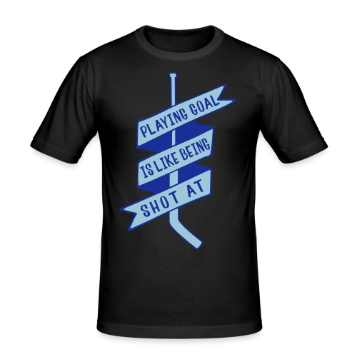 playing_goal_is_like_bein - Men's Slim Fit T-Shirt