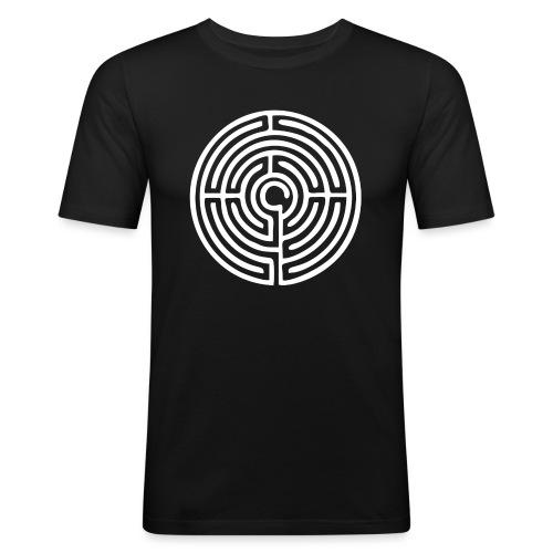 Labyrinth Schutzsymbol Lebensweg Magie Mystik - Männer Slim Fit T-Shirt
