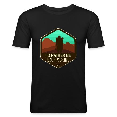 I'd Rather Be Backpacking - Männer Slim Fit T-Shirt