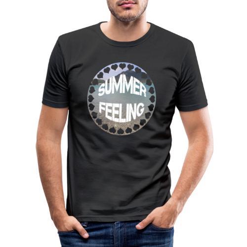 LIMITED SUMMER FEELING Schriftzug - Männer Slim Fit T-Shirt