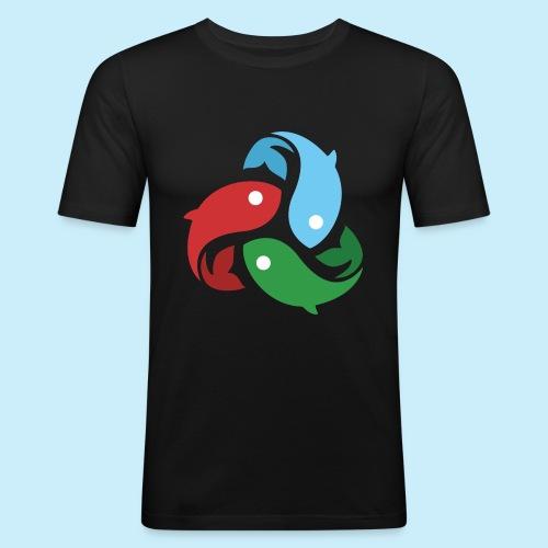 De fiskede fisk - Herre Slim Fit T-Shirt