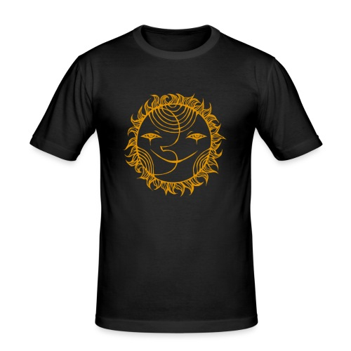 Golden Sunmoon Rising - Men's Slim Fit T-Shirt