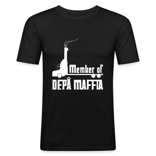 Depå Maffia vitt tryck - Slim Fit T-shirt herr