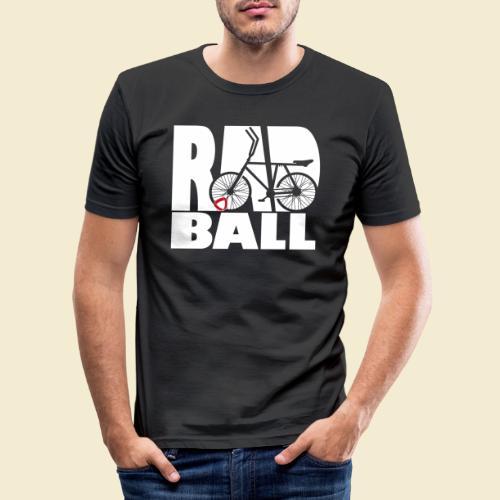 Radball | Typo - Männer Slim Fit T-Shirt