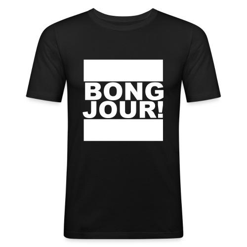 BONGJOUR! - Männer Slim Fit T-Shirt