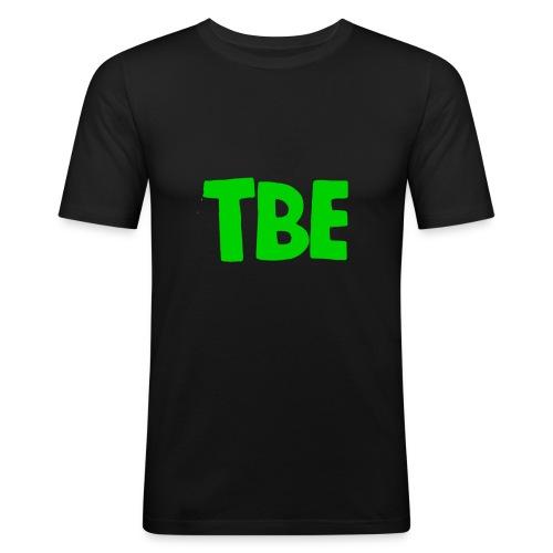 Logo groen - Mannen slim fit T-shirt