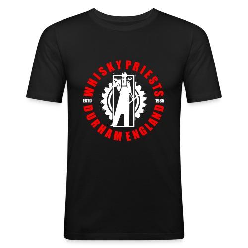 IRON MAN LOGO RED WHITE TRANS - Men's Slim Fit T-Shirt