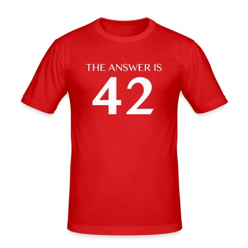 The Answer is 42 White - Men's Slim Fit T-Shirt