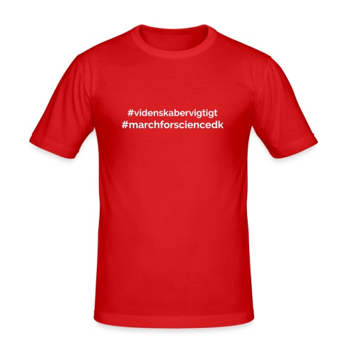 March for Science Danmark - Men's Slim Fit T-Shirt